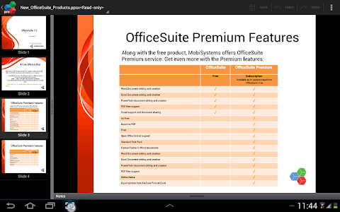screenshot of OfficeSuite 7 Pro (Trial) version 7.5.2129