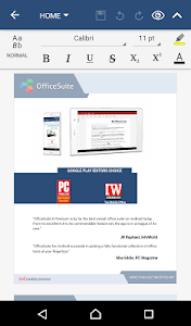 screenshot of OfficeSuite Pro + PDF (Trial) version 8.4.4317