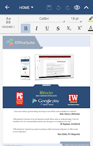 screenshot of OfficeSuite Pro + PDF (Trial) version 8.4.4436