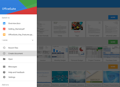 screenshot of OfficeSuite Pro + PDF (Trial) version 8.6.4799