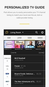 screenshot of Peel Smart Remote TV Guide version 10.6.8.5