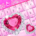 Pink Diamond Princess Keyboard Theme