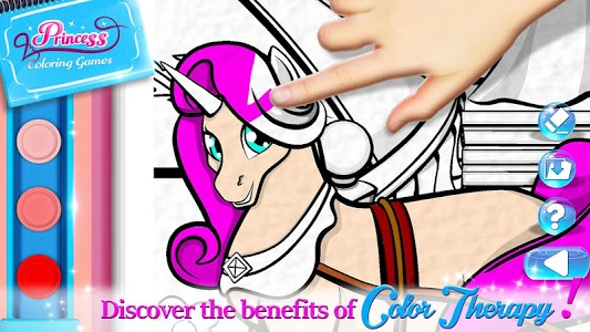 screenshot of Princess Coloring Book Games Free version 1.0.4
