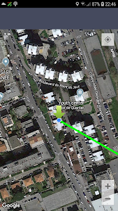 screenshot of Qibla Direction and Location version Varies with device