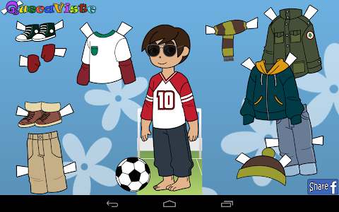 screenshot of Queca Dress up Paper Dolls version 1.3.4