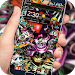 Rock Skull Graffiti Theme & Lock Screen & Call