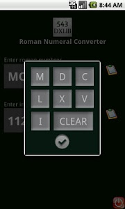 screenshot of Roman Numeral Converter version 9.0