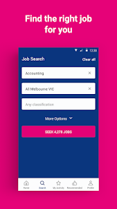 screenshot of SEEK Job Search version Varies with device