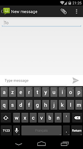 screenshot of SMS Messaging (AOSP) version Varies with device