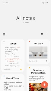 screenshot of Samsung Notes version Varies with device
