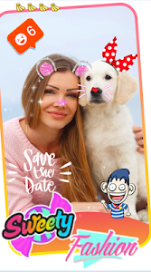 screenshot of Sweet Selfie Snap - Sweet Camera, Beauty Cam Snap version 2.3.70