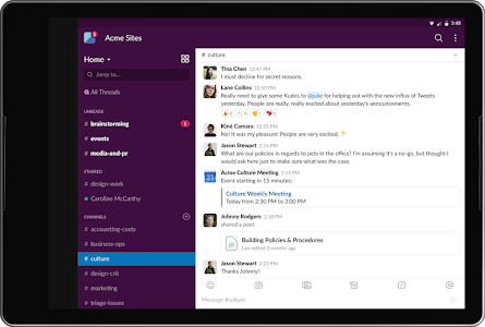 screenshot of Slack version 20.03.20.0