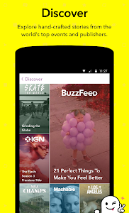 screenshot of Snapchat version 10.2.7.0