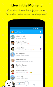 screenshot of Snapchat version 10.63.5.0