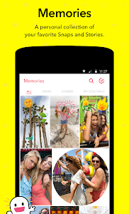screenshot of Snapchat version Varies with device