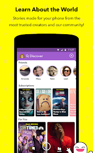 screenshot of Snapchat version 10.57.0.0