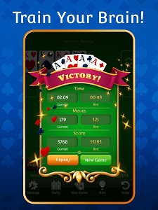 screenshot of Solitaire version 2.3.2