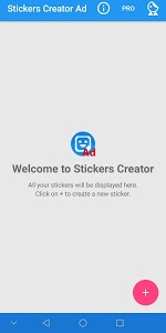 screenshot of Stickers Creator Ad version 5.7
