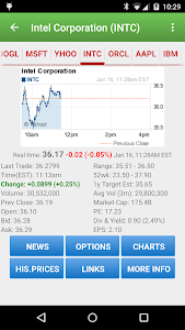 screenshot of Stock Quote version 3.7.2
