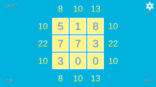 screenshot of Sum up the numbers : Kill Time Game version 1.00
