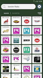 screenshot of Sweden Radio Stations Online version 4.0.1