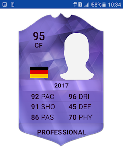 screenshot of Team Cards Viewer for FiFa 17 version 1.0