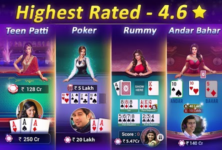 screenshot of Teen Patti Gold - 3 Patti, Poker, Rummy Card Game version Varies with device