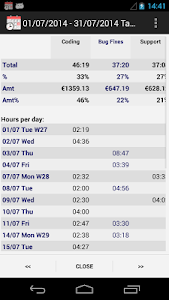 screenshot of Time Recording - Timesheet App version Varies with device