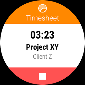 screenshot of Timesheet - Time Tracker version Varies with device