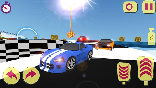 screenshot of Tricky Extreme stunts Track Car Racing version 1.1