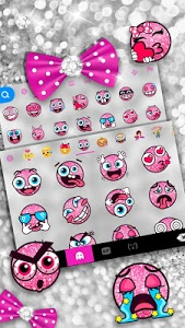 screenshot of Twinkle Minny Bowknot Keyboard Theme version 6.0