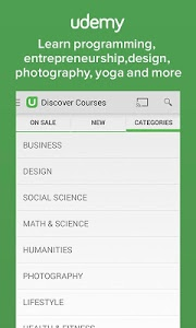 screenshot of Udemy: Courses and Tutorials version 1.9