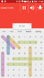 screenshot of Valentine's Day Word Search 2019 version 1.0