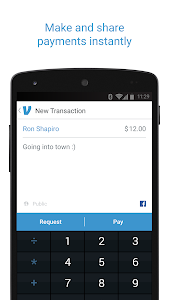 screenshot of Venmo version 6.3.0