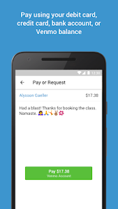 screenshot of Venmo version 7.1.0