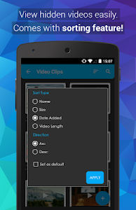 screenshot of Video Locker - Hide Videos version 2.1.0