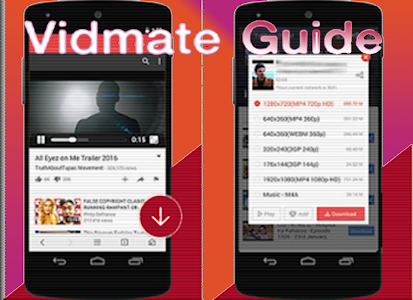 screenshot of Video Vidmate downloader Guide version 1.0