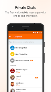 screenshot of Voxer Walkie Talkie Messenger version 3.18.20.21535