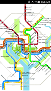 screenshot of Washington DC Metro Map version 1.0