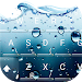 3D Blue Water Screen Droplets Keyboard Theme