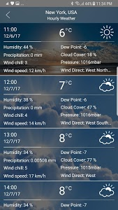 screenshot of Weather Forecast version 9.9