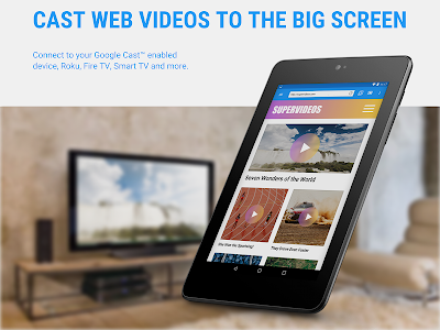 screenshot of Web Video Cast | Browser to TV/Chromecast/Roku/+ version 4.5.3