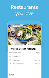 screenshot of Wolt: Food delivery version 2.11.3
