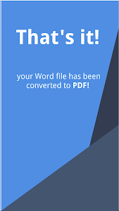 screenshot of Word to PDF - Convert DOC/DOCX to PDF Free version 1.6.2