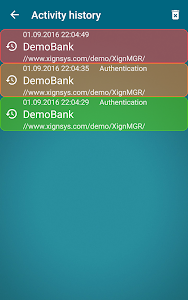 screenshot of XignQR version Varies with device
