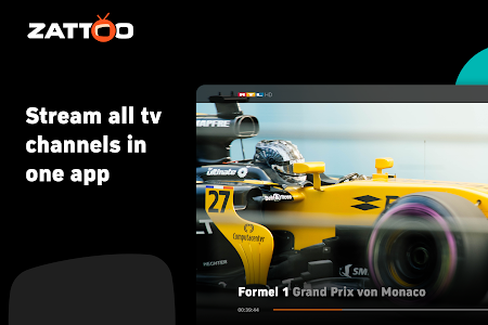 screenshot of Zattoo - TV Streaming App version Varies with device