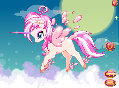 screenshot of magical unicorn rainbow : dress up game for girls version 1.1.2