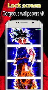 screenshot of new Goku lockscreen themes dragon super ball 2018 version 1.0