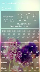 screenshot of weather forecast - weather version 30