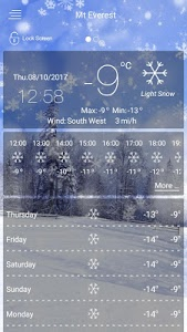 screenshot of weather forecast - weather version 42